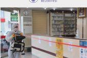 Erdemli Belediyesi Eczaneleri Dezenfekte Ediyor