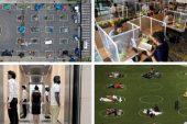 Koronavirüs salgınında sosyal mesafe için yaratıcı çözümler: Parklara çember, restoranlara karton müşteri, masalara paravan
