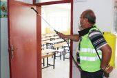 TOROSLAR'DA OKULLAR, YKS ÖNCESİ DEZENFEKTE EDİLDİ