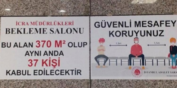 Adliyede 'cinsiyetçi afiş' tartışması