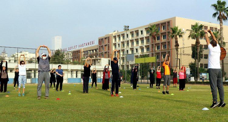 """""""AKDENİZ SENİ ÇAĞIRIYOR""""Sağlıklı bir gelecek ve zinde bir hayat için haydi sabah sporuna!"""