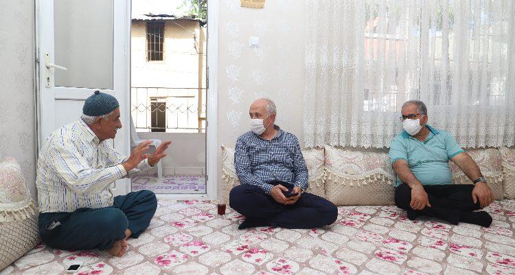 Akdeniz Belediye Başkanı  GÜLTAK; 'BABA'LARI ZİYARET ETTİ