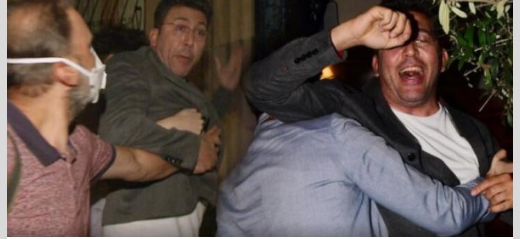Emre Kınay muhabirin  sorusunu duyunca olay patladı!  Küfür ve hakaretler havada uçuştu