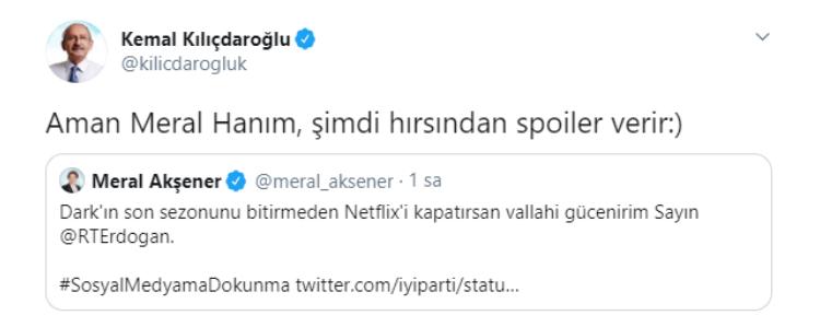 Kılıçdaroğlu'ndan Erdoğan'a sosyal medya göndermesi: 'Hırsından spoiler verir'