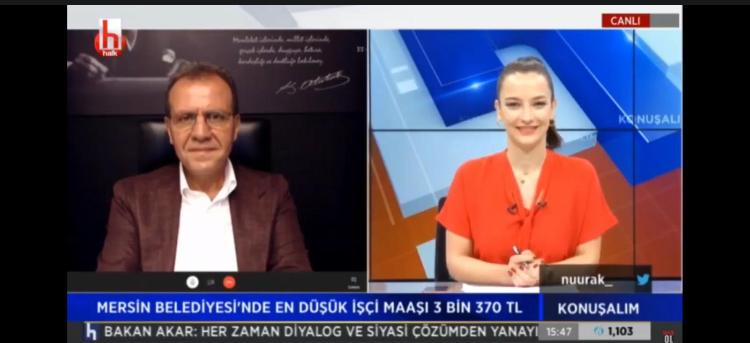 """BAŞKAN SEÇER HALK TV'DE """"KONUŞALIM"""" PROGRAMININ KONUĞU OLDU"""