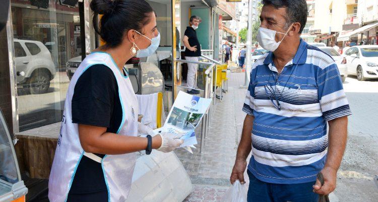 Yenişehir Belediyesi Çalışmalar sürerken vatandaşları da bilgilendiriliyor