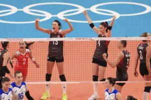 Filenin Sultanları,Rusya'yı 3-2 mağlup etti.Olimpiyatlarda çeyrek final vizesi aldı