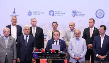 """CHP'li 11 Büyükşehir Belediye Başkanı'ndan hükümete THK çağrısı: """"Uçakları aktif hale getirmeye hazırız!"""""""