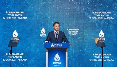 DEVA Partisi Genel Başkanı Ali Babacan'ın Mersin Programı Belli Oldu